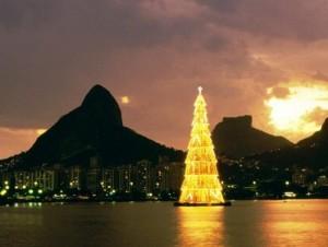 Novogodišnja jelka na vodi, Rio de Žaneiro